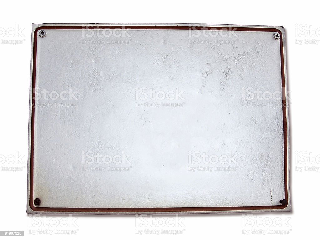 blank Sign - with clipping path royalty-free stock photo