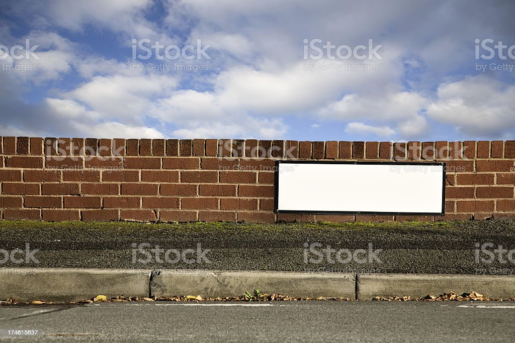Blank Sign with Space for Name of Your Street-More below royalty-free stock photo