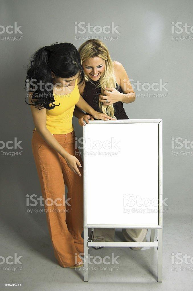 Blank signboard royalty-free stock photo