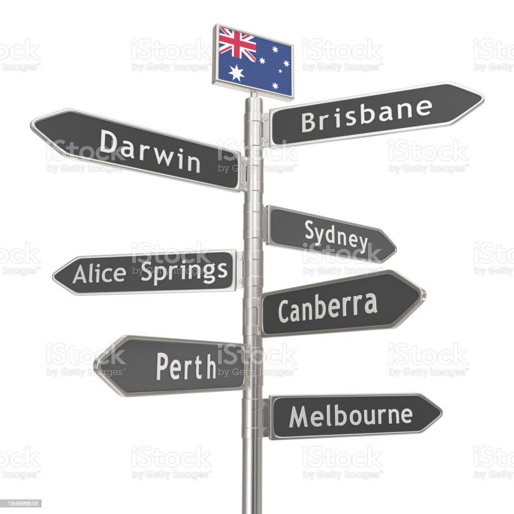 Blank Signpost - Australia Cities stock photo