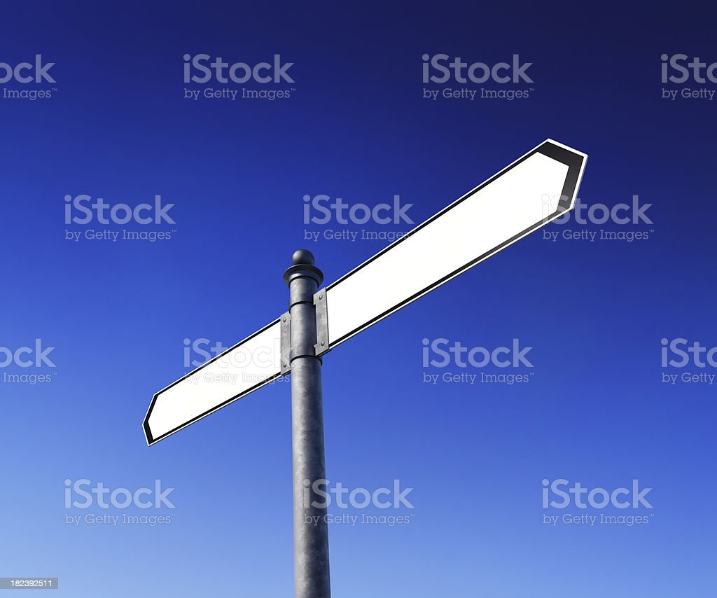Blank signpost royalty-free stock photo