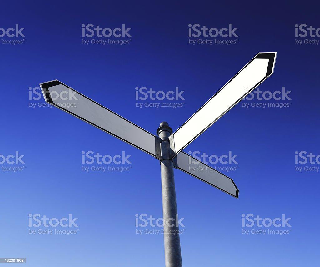 Blank signpost royalty-free stock photo