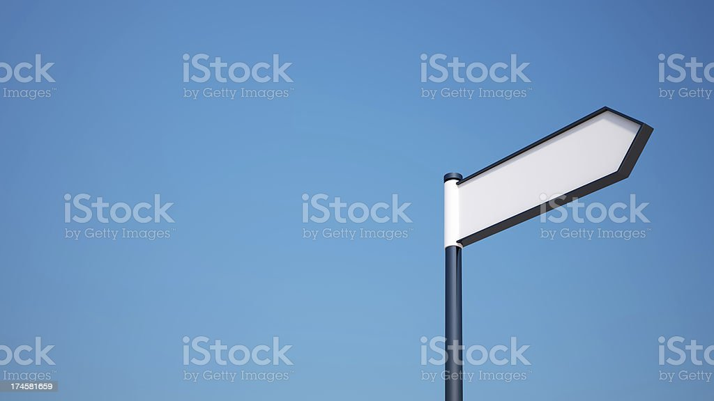 Blank Signpost with Clipping Path stock photo