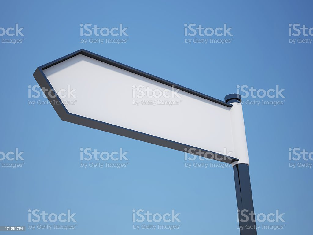 Blank Signpost with Clipping Path royalty-free stock photo