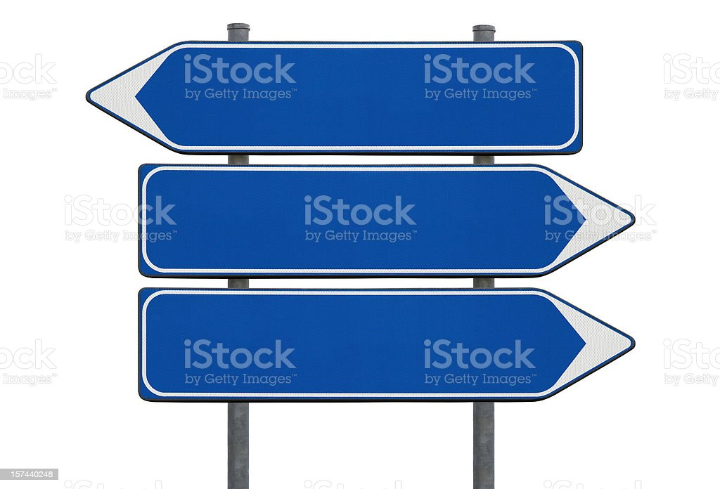Blank signs on white royalty-free stock photo
