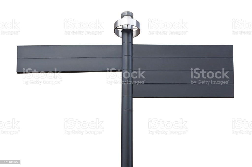 Blank signs on white stock photo