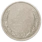 Blank silver coin