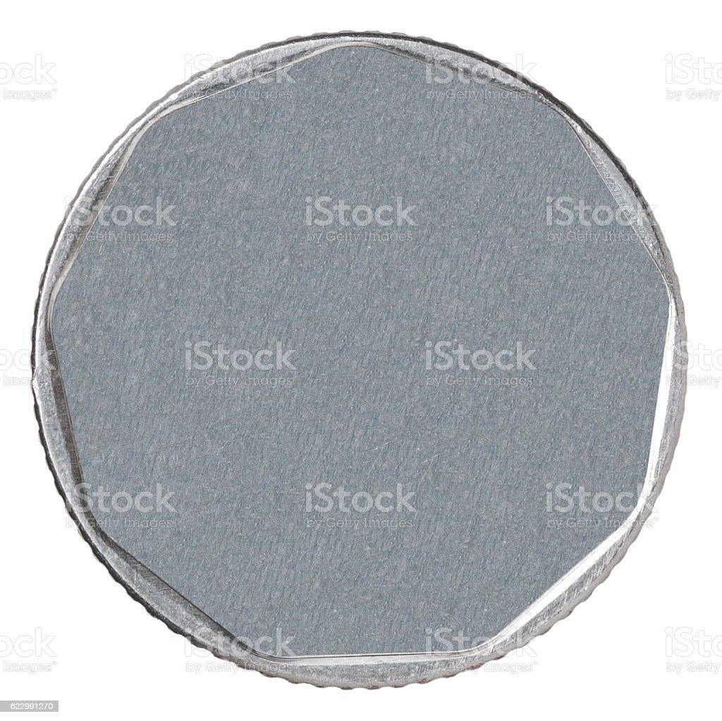 blank silver coin stock photo