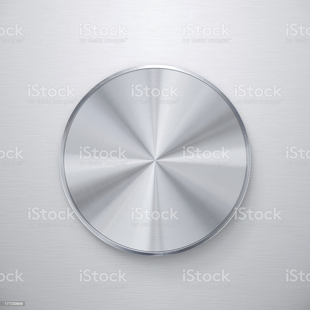 Blank silver knob stock photo