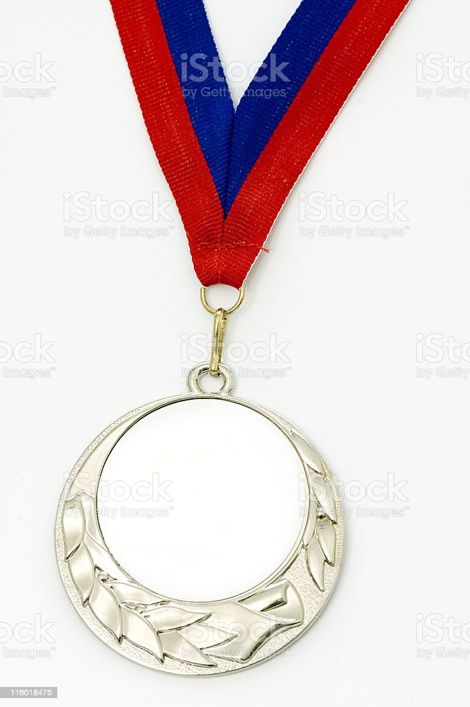 Blank Silver Medal of Honor royalty-free stock photo