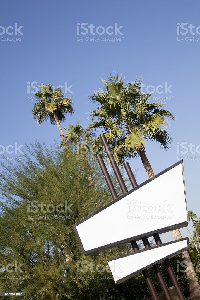 Blank Sixties Retro Motel Sign, Copyspace, Vertical royalty-free stock photo
