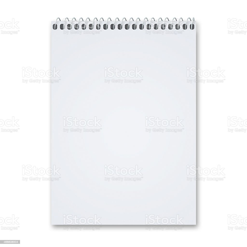 Blank Sketch pad stock photo