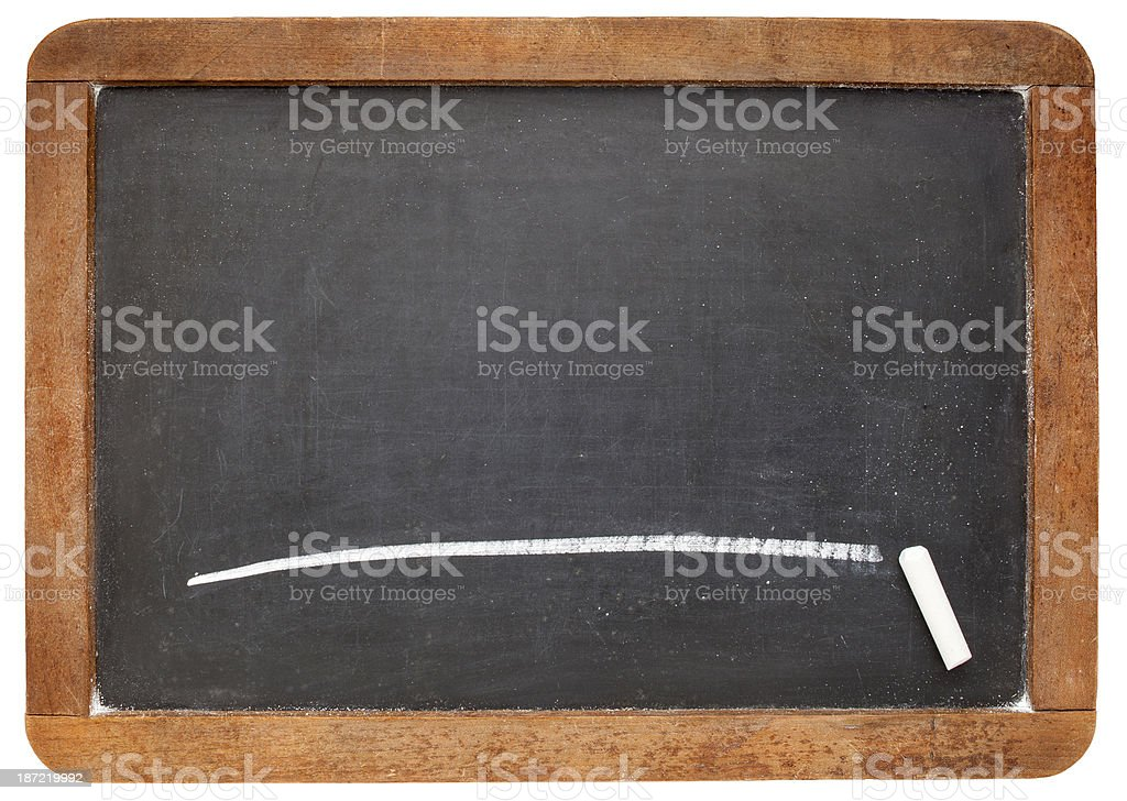 blank slate blackboard royalty-free stock photo