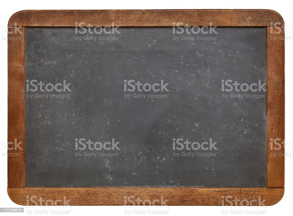 Blank slate blackboard with wooden frame royalty-free stock photo