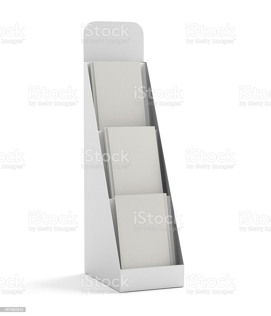 blank small rack or display stock photo