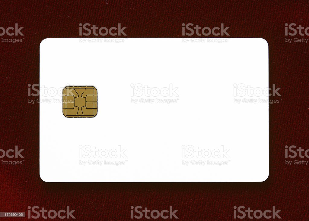 Blank Smart Card stock photo
