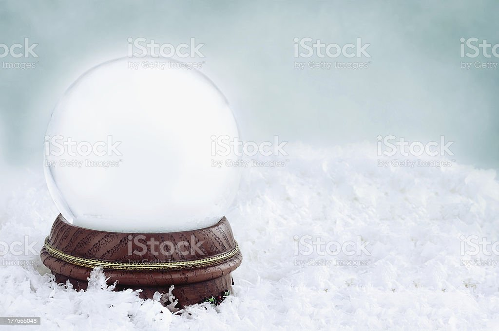 Blank Snow Globe stock photo