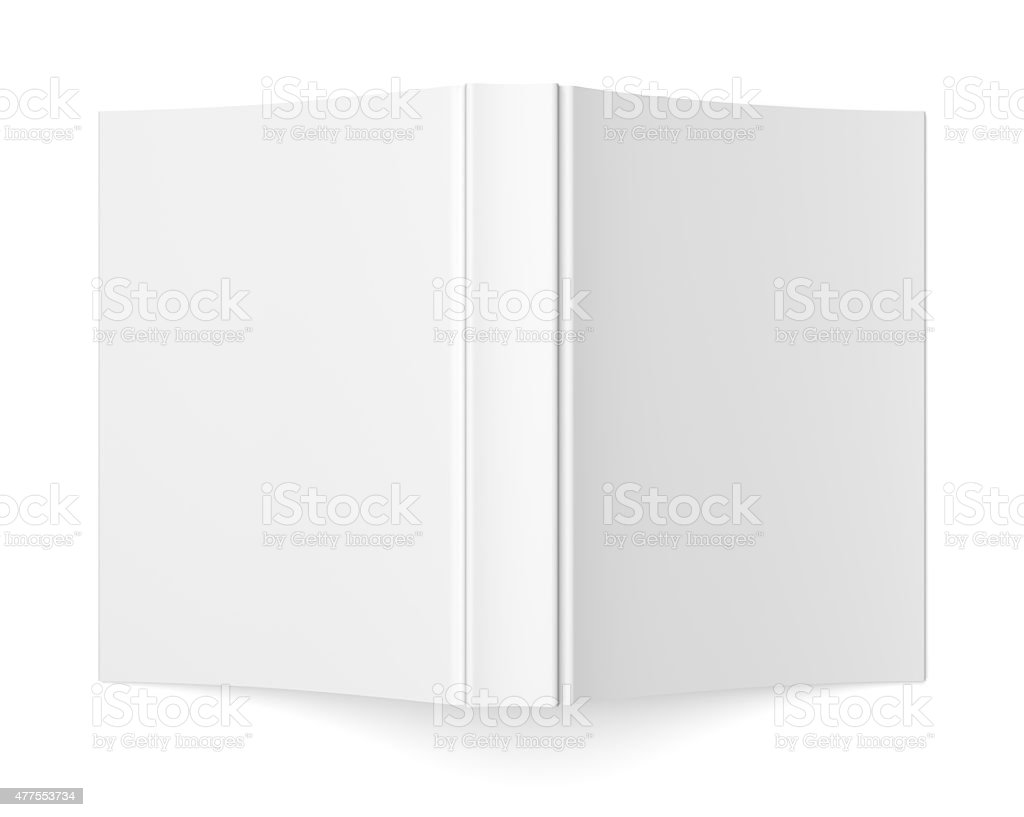 Blank soft cover book template on white stock photo