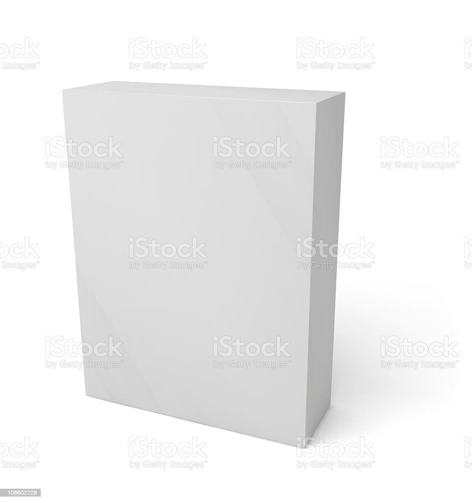 Blank software container royalty-free stock photo