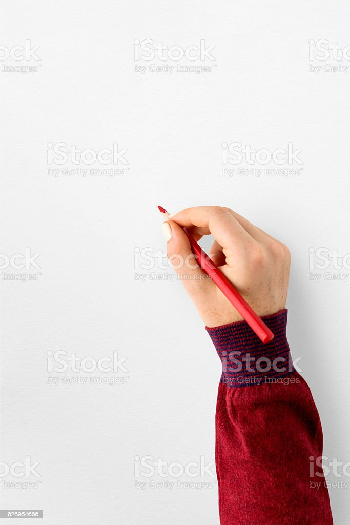 Blank Space Paper Pencil Concept stock photo