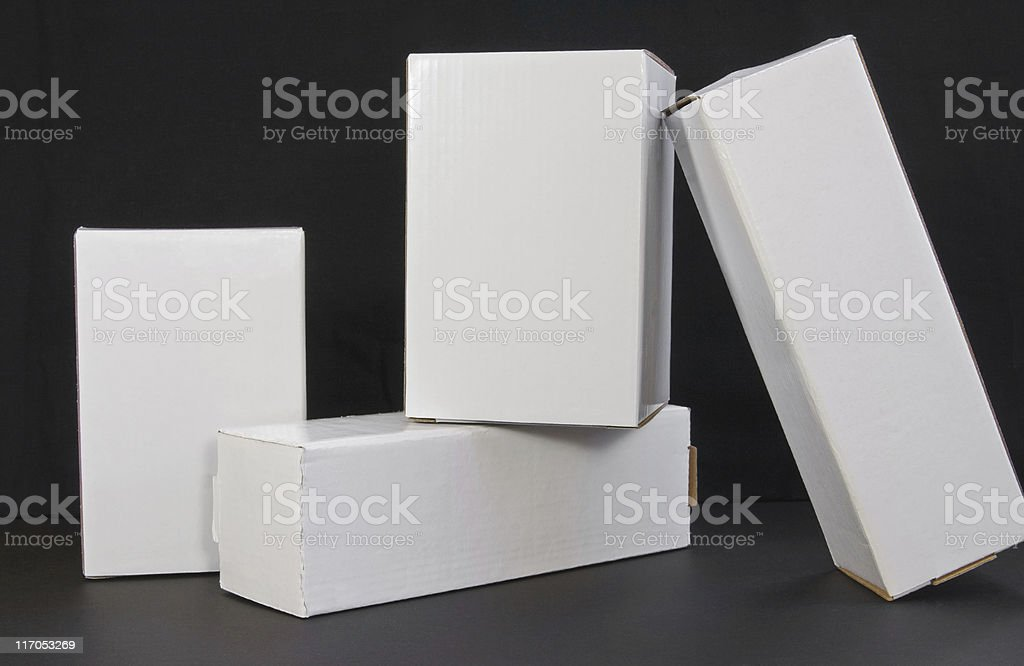 Blank Spaces Plain White boxes on black background royalty-free stock photo