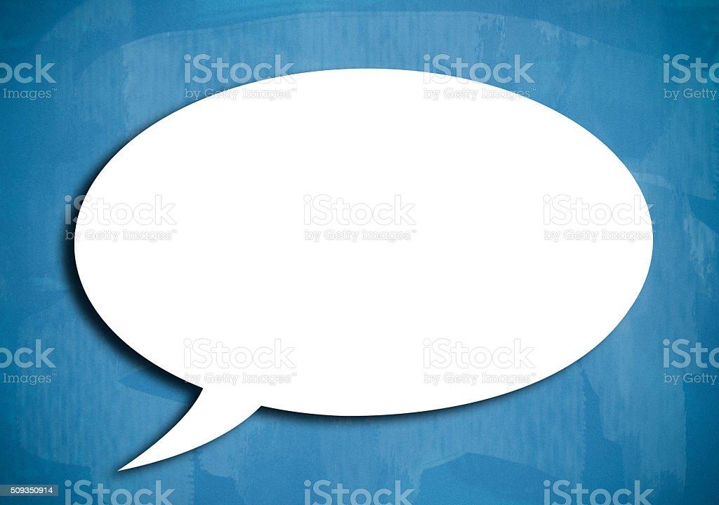 Blank speech bubble / Blue board concept (Click for more) stock photo