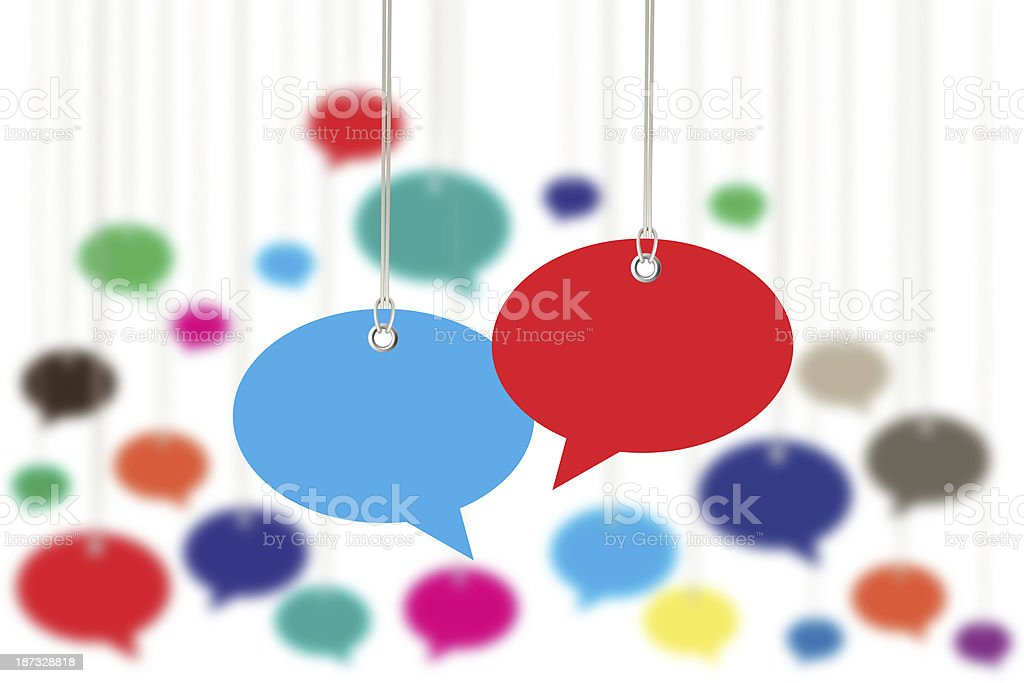 Blank Speech Bubbles royalty-free stock photo