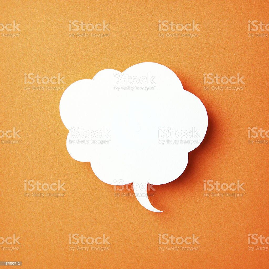 blank speech bubbles stock photo
