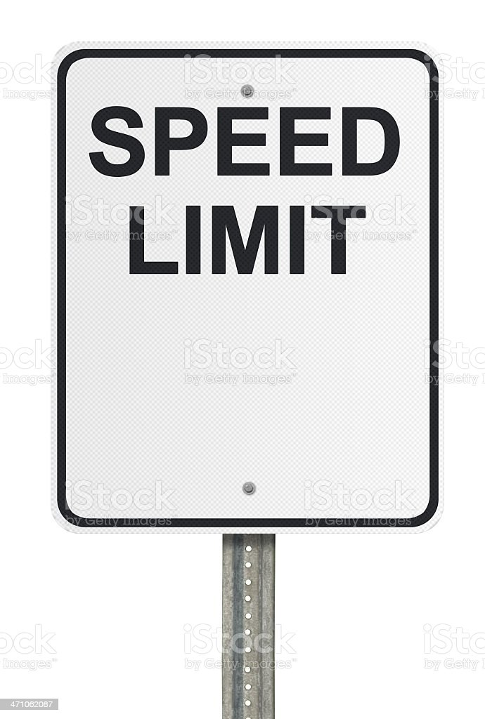 Blank Speed Limit. Part of our Create a Sign Series stock photo