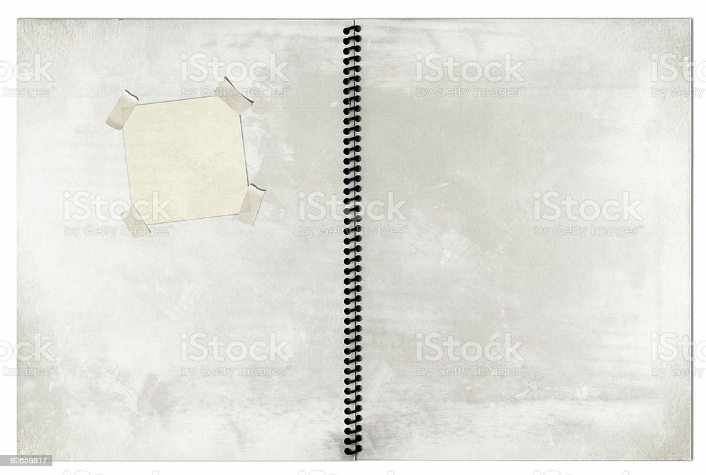 Blank Spiral Notebook royalty-free stock photo