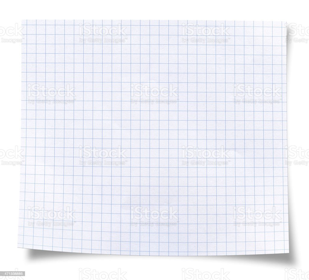 Blank square rules lined paper stock photo