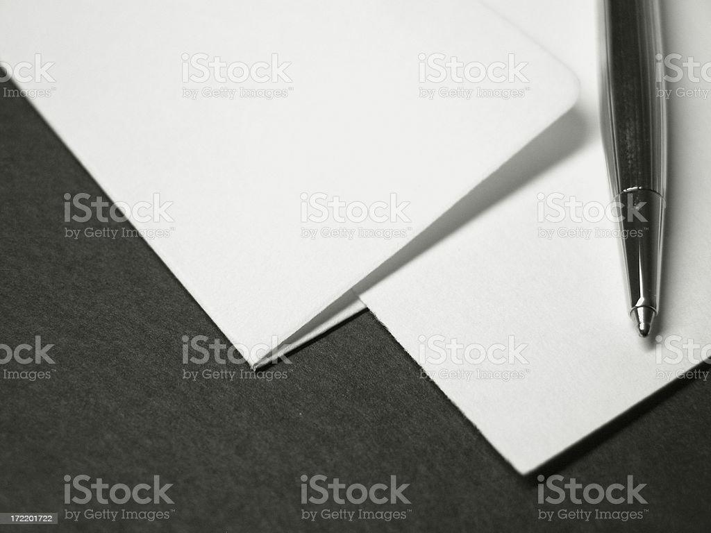 Blank Stationary stock photo