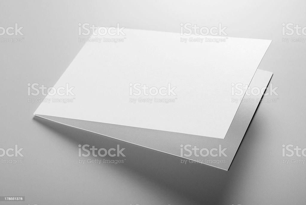 Blank stationery: card royalty-free stock photo
