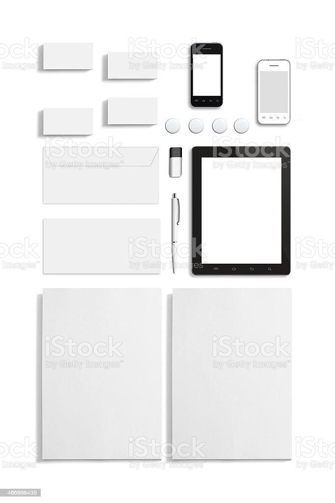 Blank Stationery Corporate ID Template stock photo