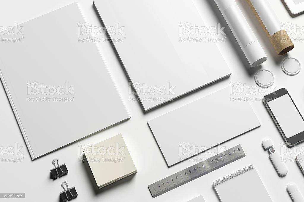 Blank stationery stock photo