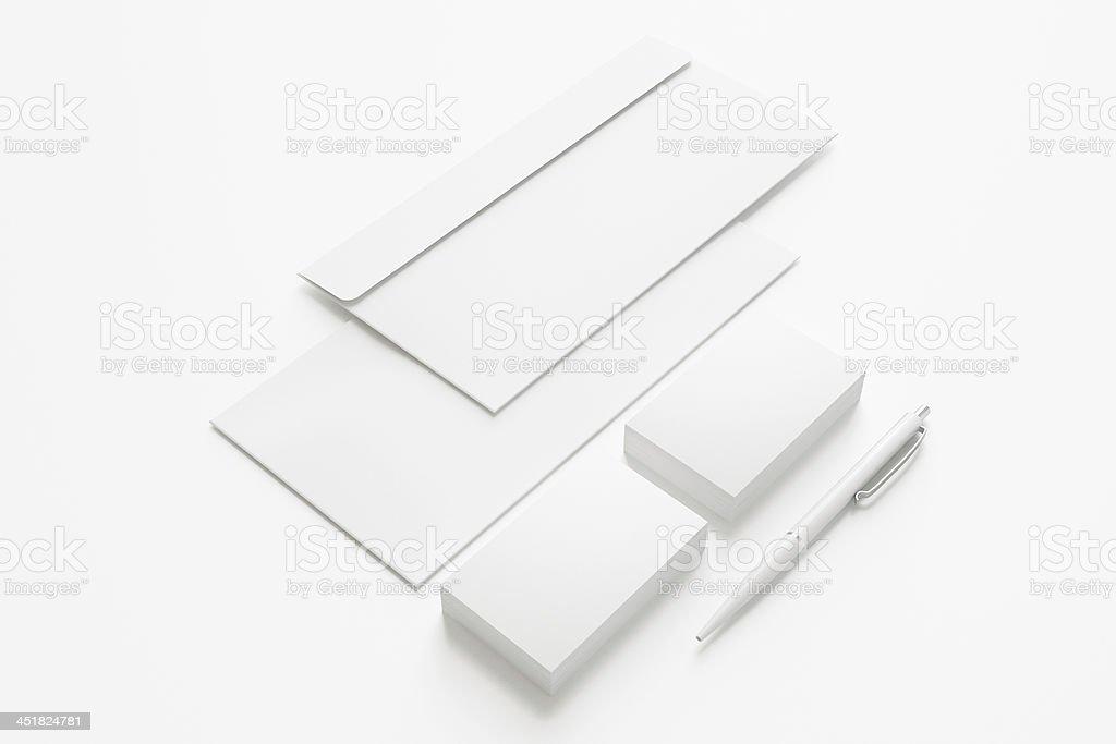 Blank Stationery Set royalty-free stock photo