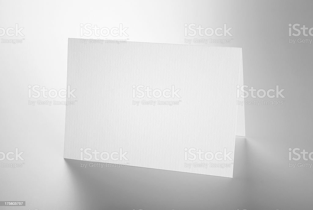 Blank stationery: standing card stock photo