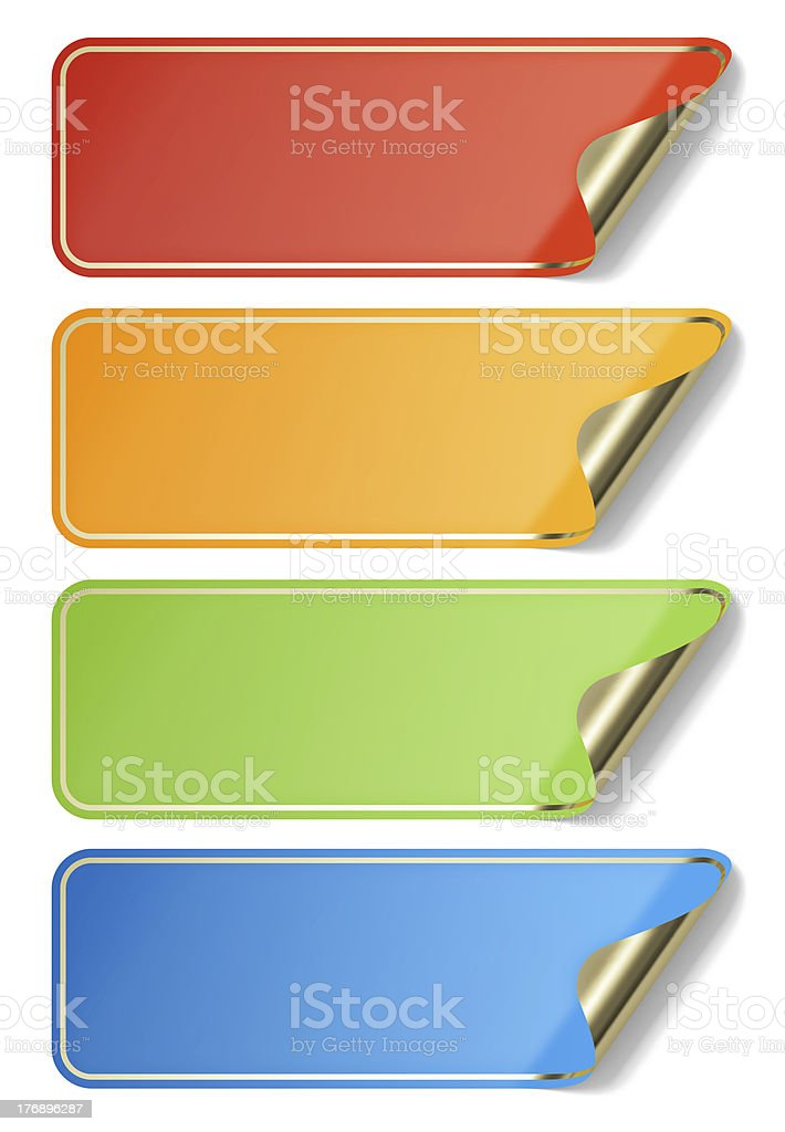Blank stickers stock photo