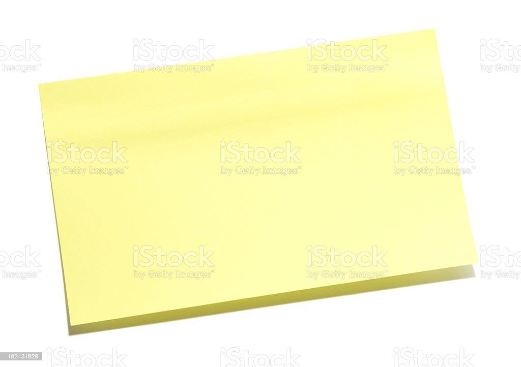Blank Sticky Note royalty-free stock photo