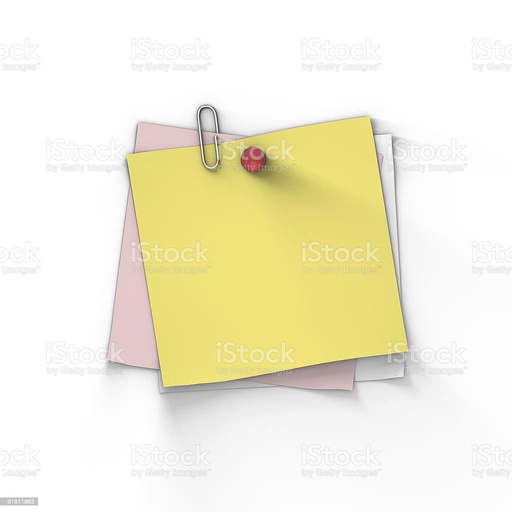 XXXL blank sticky note royalty-free stock photo