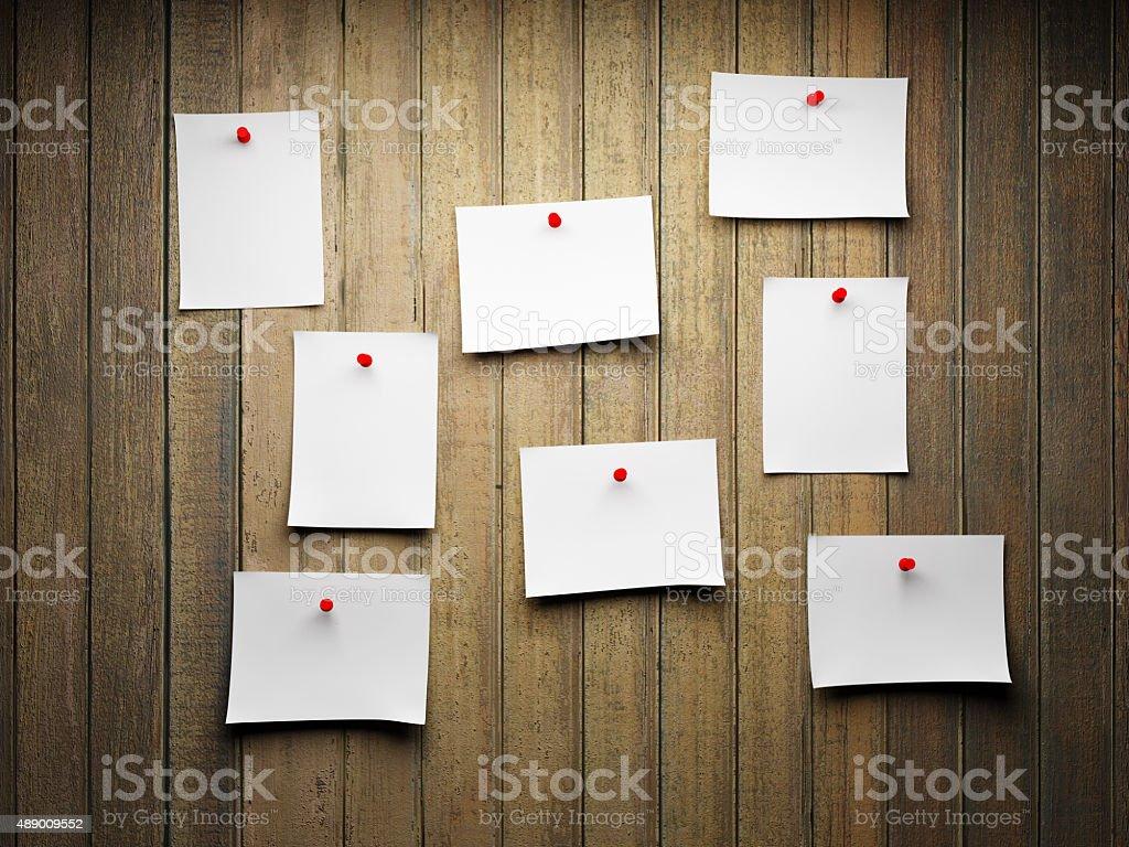 Blank sticky notes stock photo