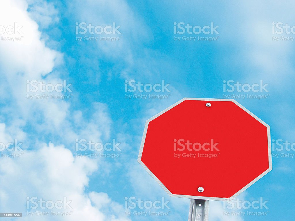 Blank Stop Sign royalty-free stock photo