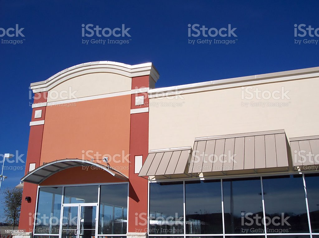 Blank Storefront - Two Sections stock photo