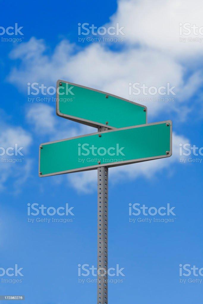 Blank Street Sign royalty-free stock photo