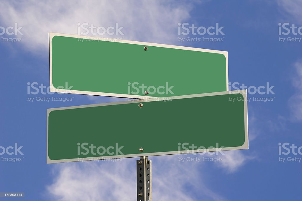 Blank Street signs (w/ 3 Clipping Paths) royalty-free stock photo