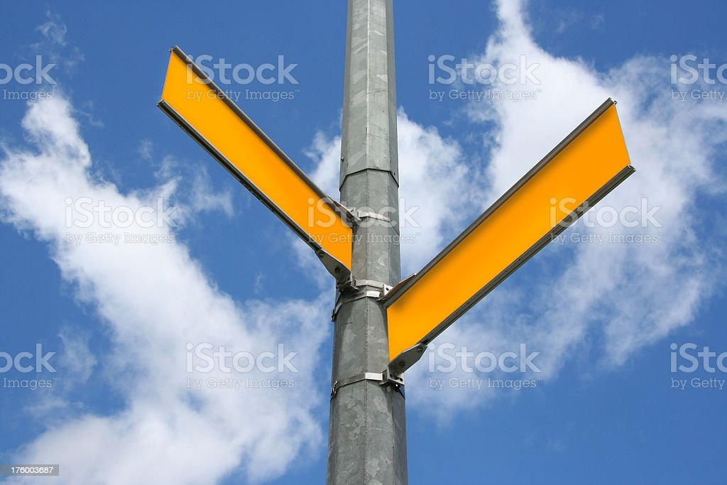 Blank Street Signs royalty-free stock photo