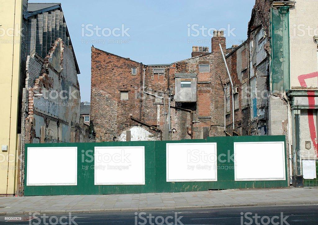 Blank street walls posters