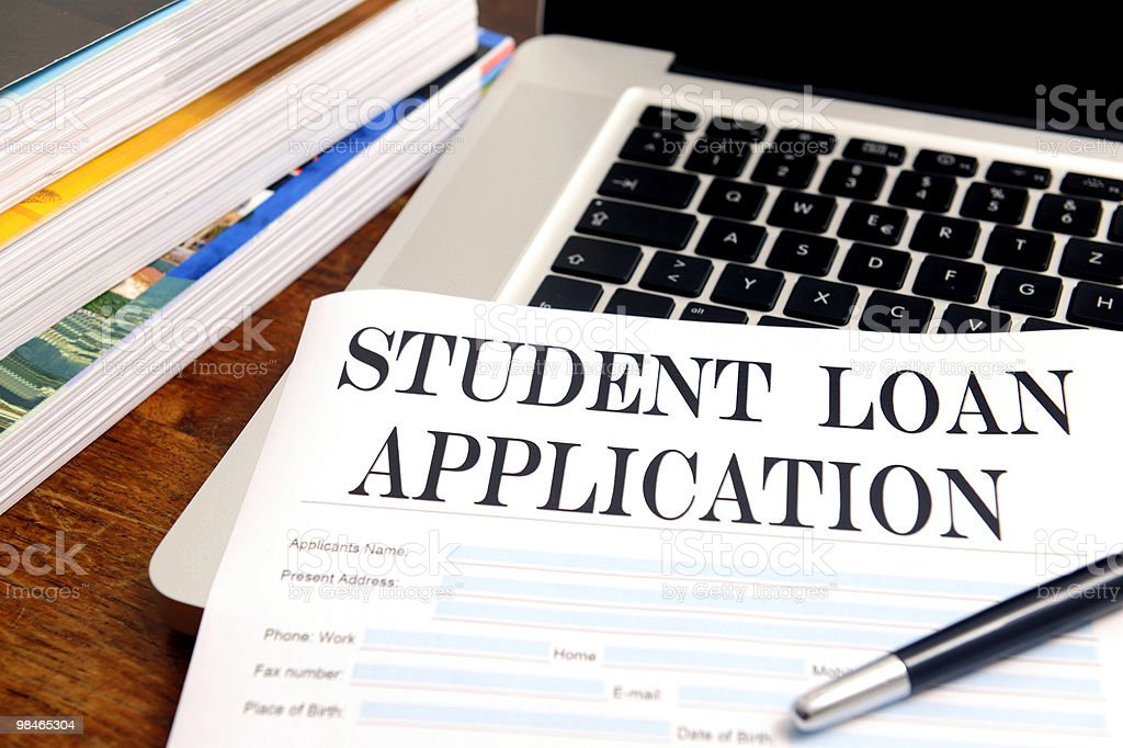 blank student loan application on desk royalty-free stock photo