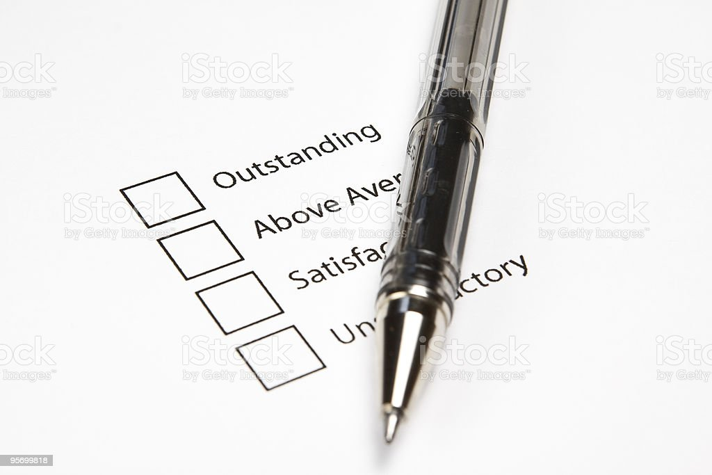 Blank Survey royalty-free stock photo
