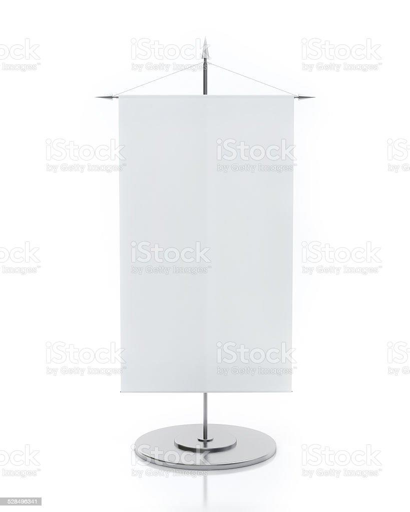 Blank Table Flag Isolated on White Background stock photo